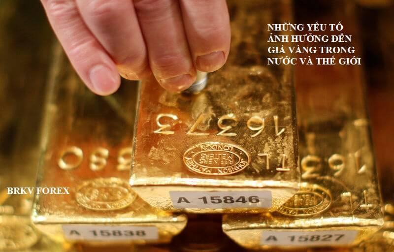 yếu tố chính ảnh hưởng đến giá vàng